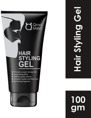 Qraa Hair Styling Gel for men with Pro Vitamin B5 -100g