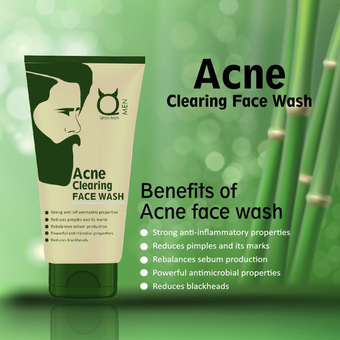 Acne Clearing Face Wash 100g- With Tea Tree Oil