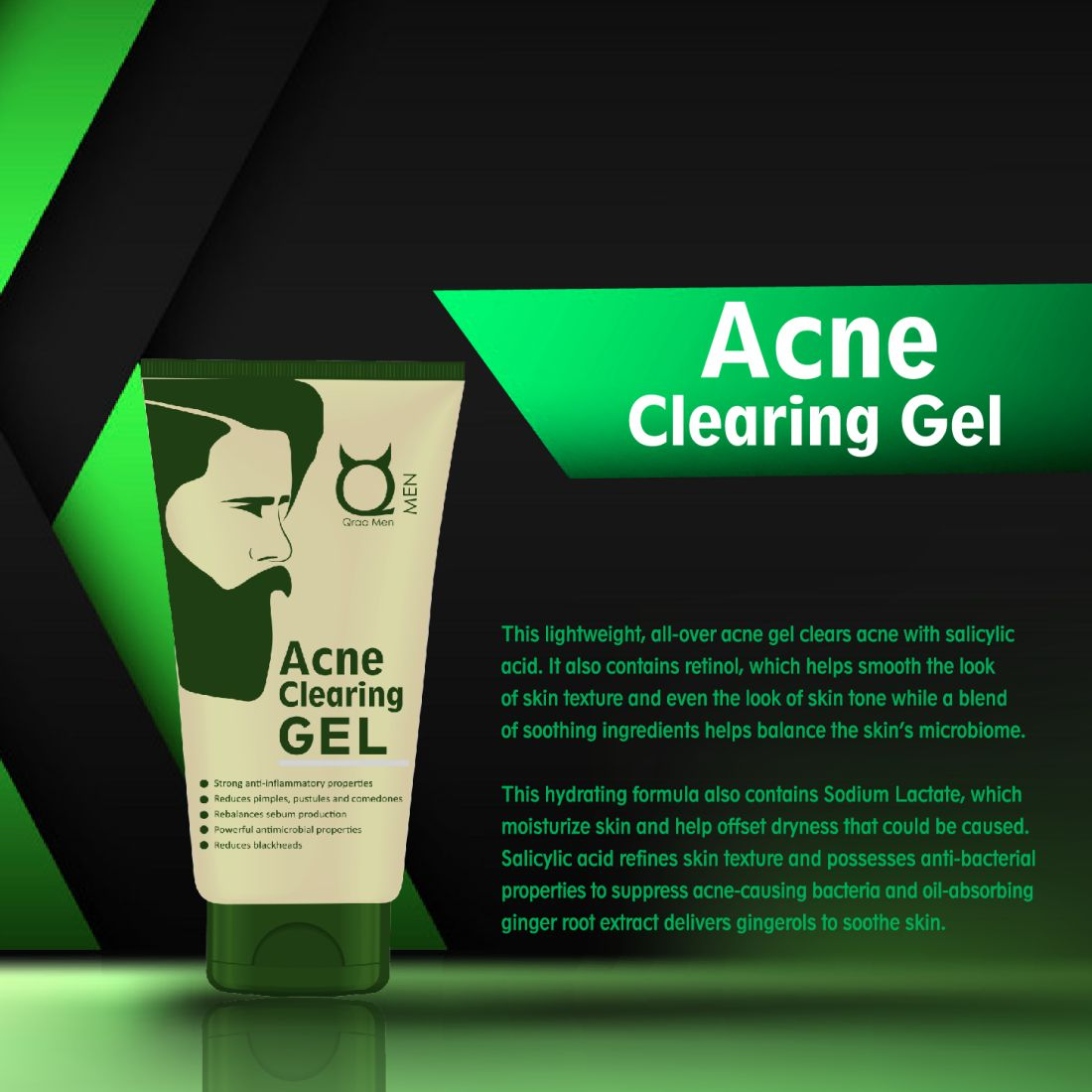 Acne Clearing Face Gel 50g - With Tea Tree Oil