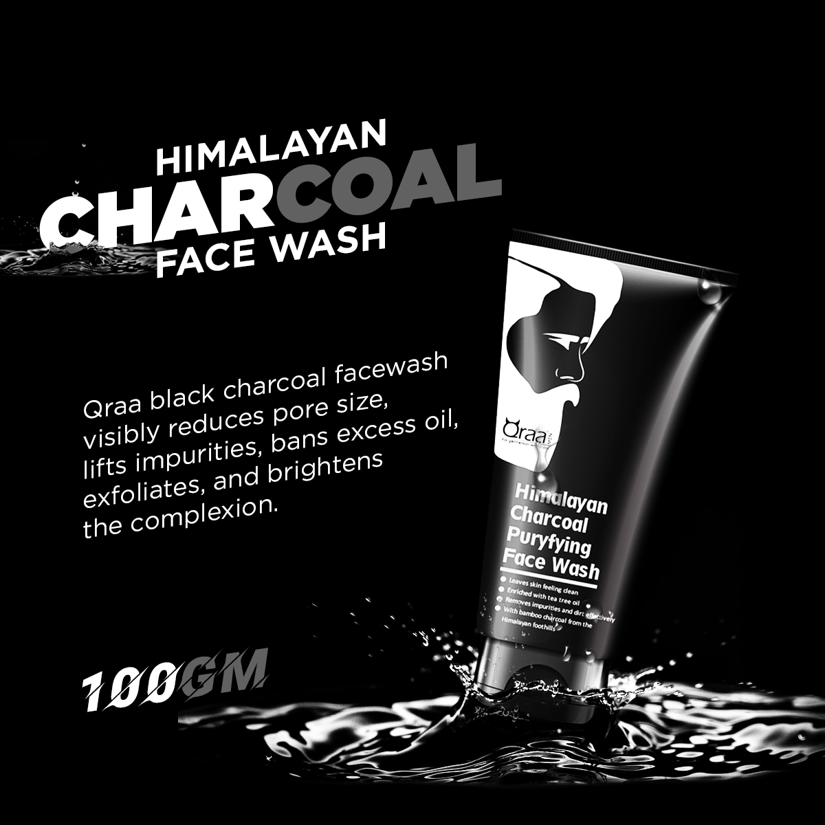 Himalayan charcoal face wash for men