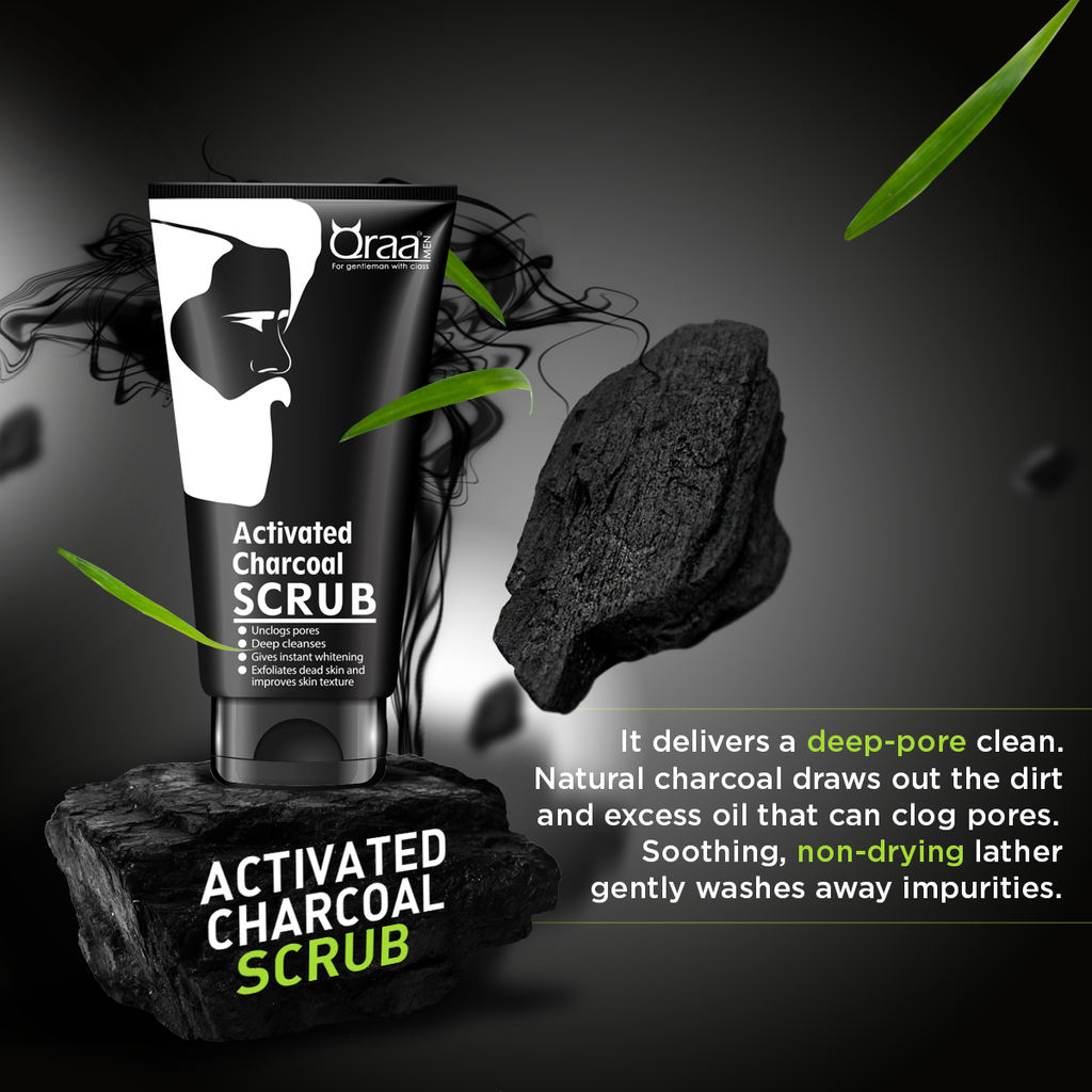 Activated Charcoal Scrub - Deep Cleansing and Whitening