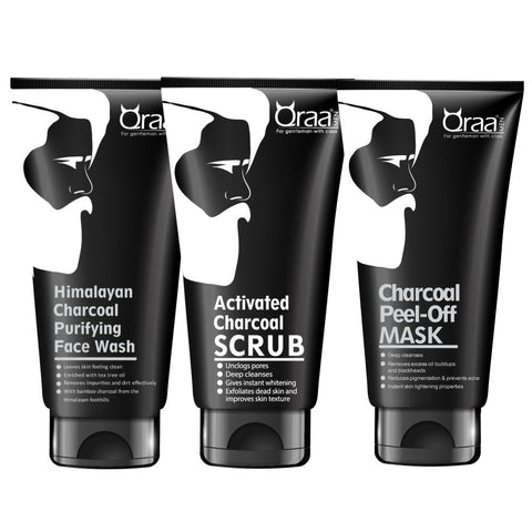 Charcoal Kit (200g) - Charcoal Facewash + Charcoal Face Scrub