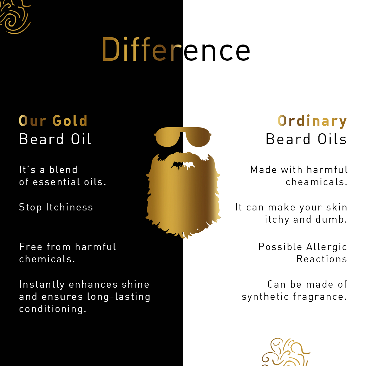 Luxurious Gold Beard Oil- 30ml