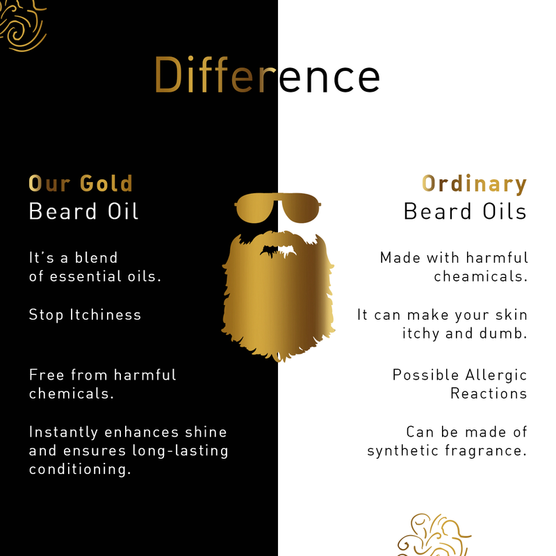 Luxurious Gold Beard Oil-With 24K Gold Leaves 30ml