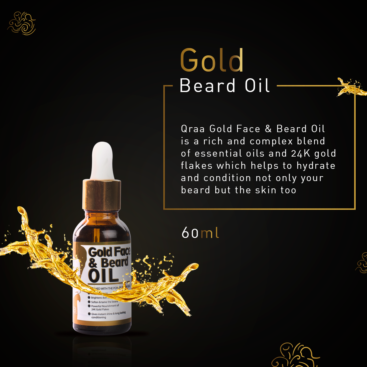 Luxurious Gold Beard Oil -60ml