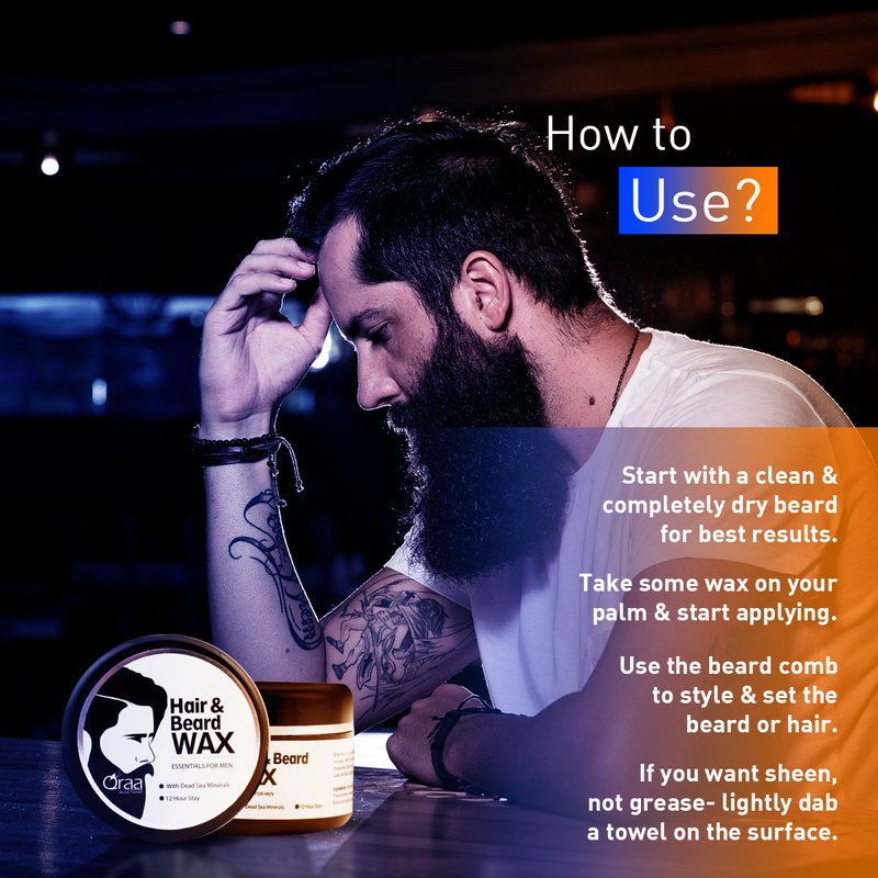 Styling Hair & Beard Gel Wax- Upto 12 Hour Stay