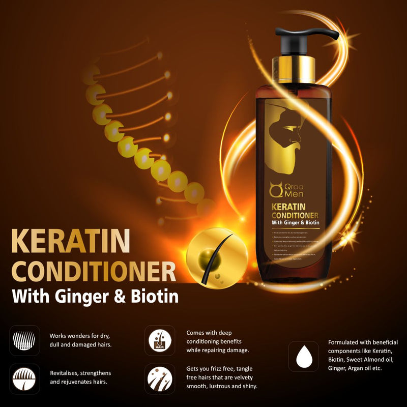 Keratin Conditioner for Men with Ginger and Biotin- 200ml