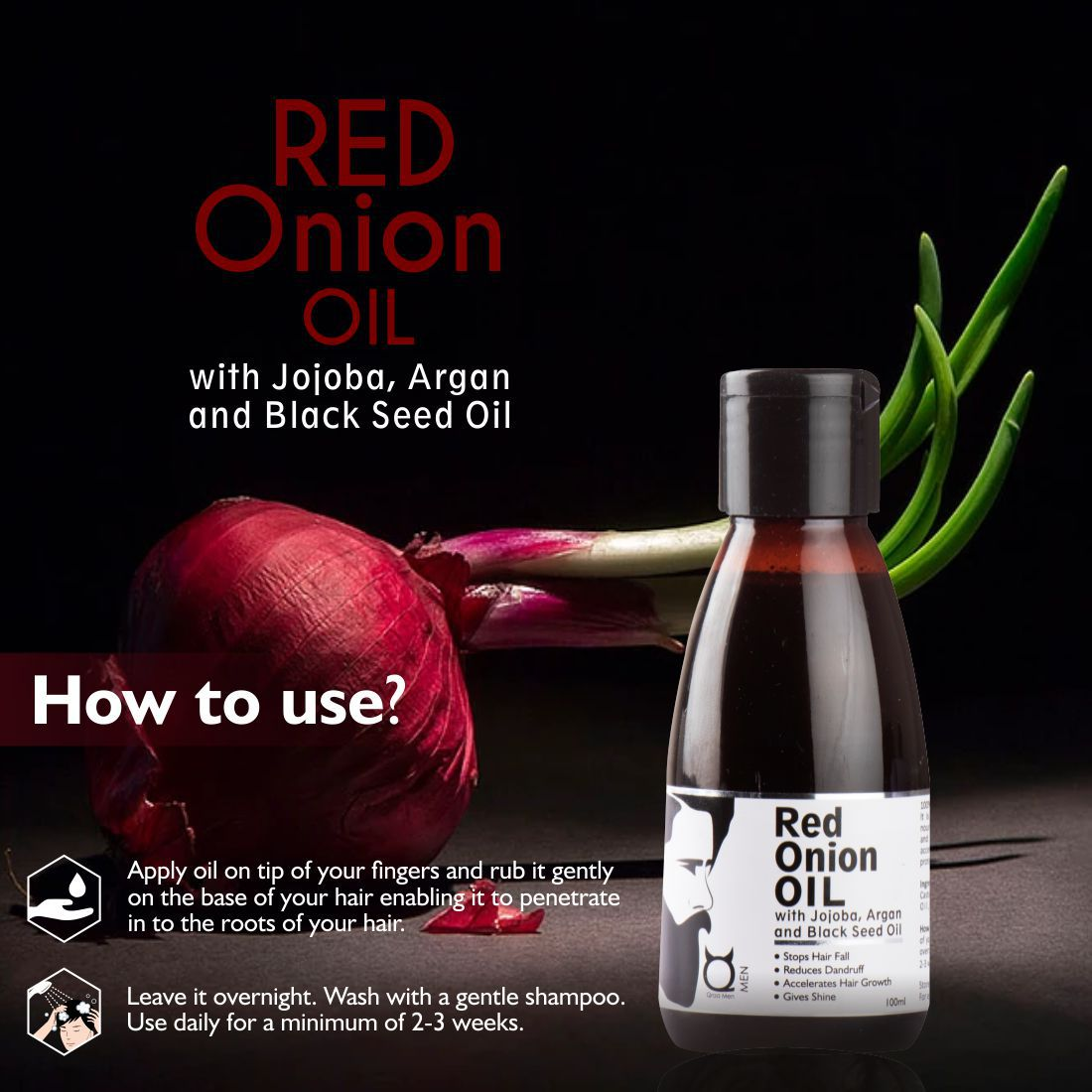 Red Onion Oil for Hair Regrowth