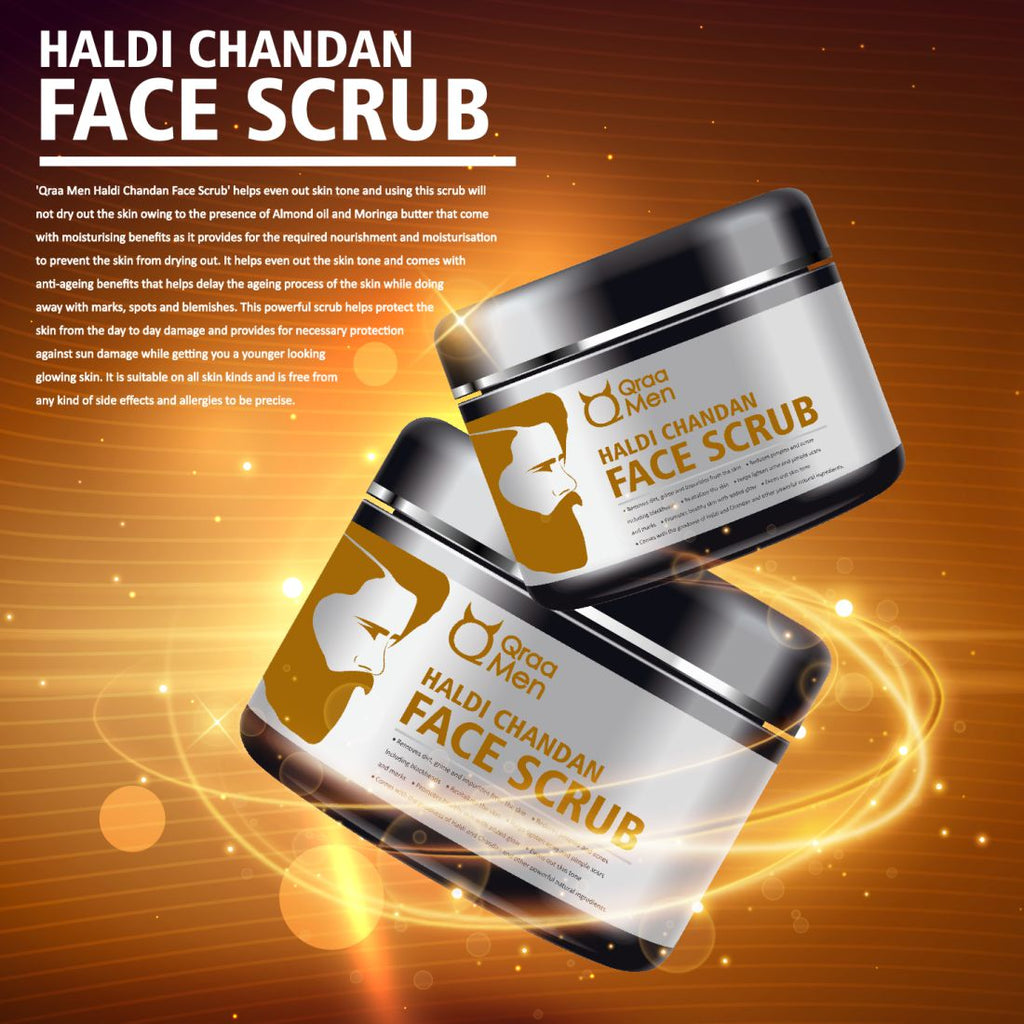 Haldi Chandan Face Scrub for Skin Brightening and Lightening- 100g