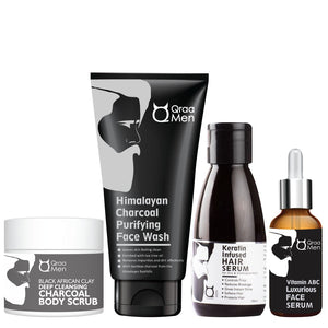 Deep Cleansing Charcoal Body Grooming Kit (Pack of 4)