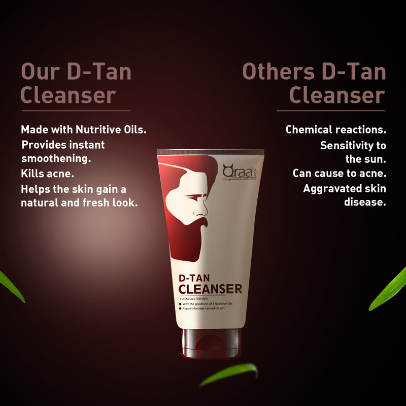 De-Tan Cleanser for Men- Removes sun tan