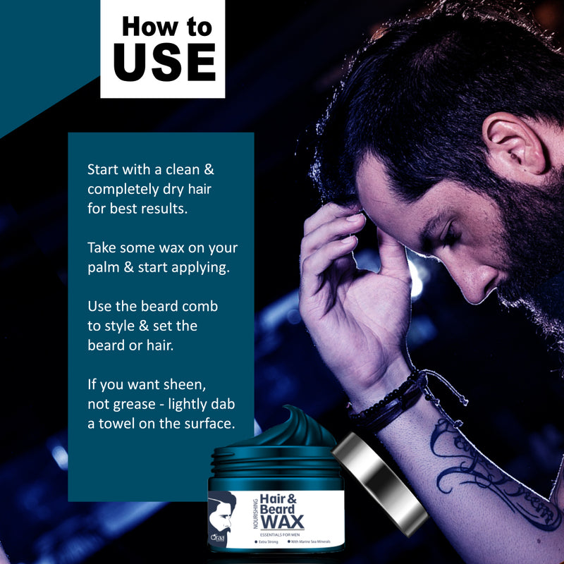 Nourishing Styling Hair And Beard Wax With Marine Sea Minerals