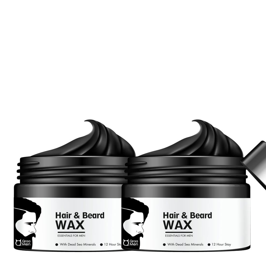 Styling Hair & Beard Gel Wax Combo of 2 for Men (Strong Hold)- Upto 12 Hour Stay