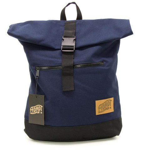 Adapt Rolltop Backpack Navy Blue - Loco Skates