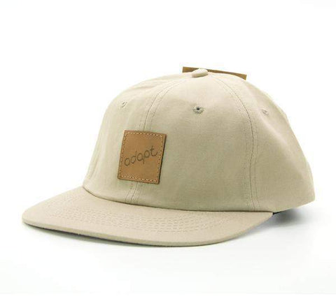 Adapt 6 Panel Cream Hat - Loco Skates