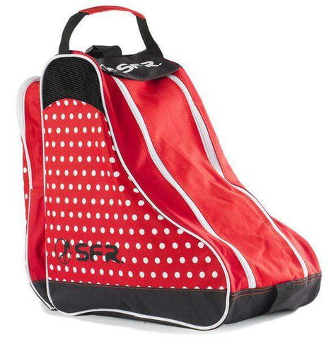 SFR Designer Skate Bag - Red Polka