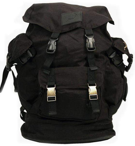 Ground Control Canvas Black Backpack - Loco Skates