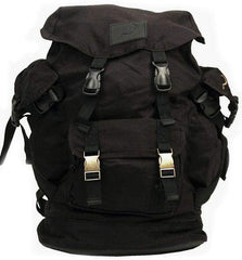 69a86fd03a Ground Control Canvas Black Backpack - Loco Skates