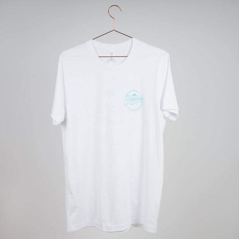 Razors Circle T-shirt White - Loco Skates
