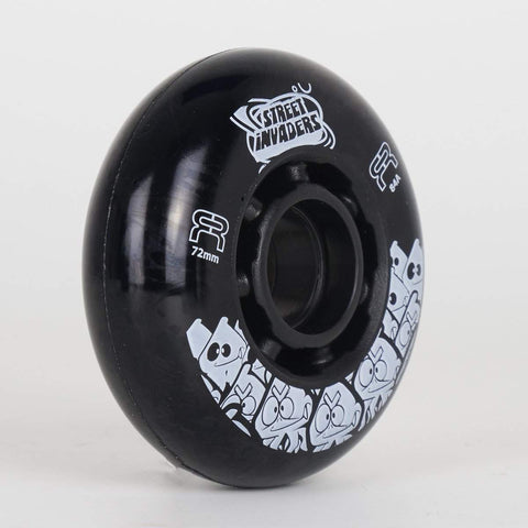 FR Street Invaders Black Wheels 72mm / 76mm / 80mm (Singles) - Loco Skates