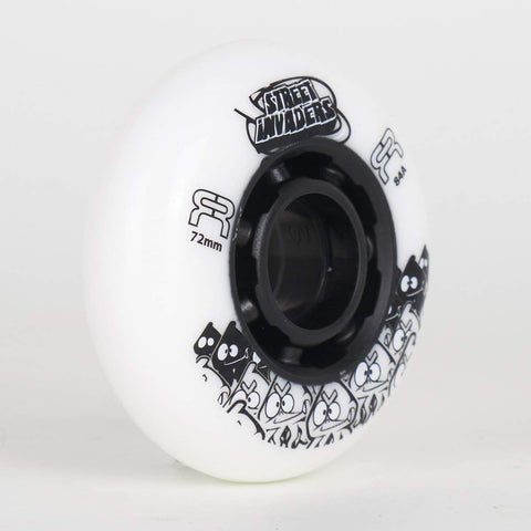 FR Street Invaders White Wheels 72mm / 76mm / 80mm (Singles) - Loco Skates