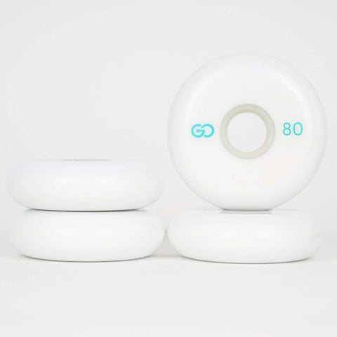 Go Project 80mm White Wheels - Loco Skates