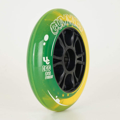 Undercover Gummies Wheels 100mm 84a - Green/Yellow - Sold Individually
