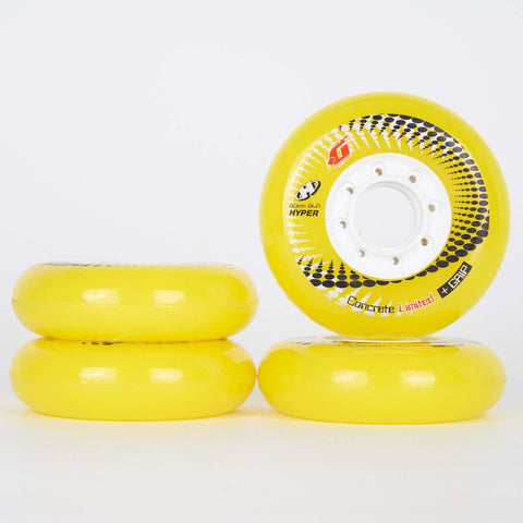 Hyper Concrete +G Yellow Wheels 72mm / 76mm / 80mm - Set of 4 - Loco Skates