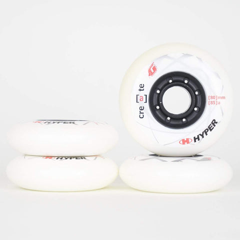 Hyper Create +G White Wheels 76mm / 80mm - Set of 4 - Loco Skates