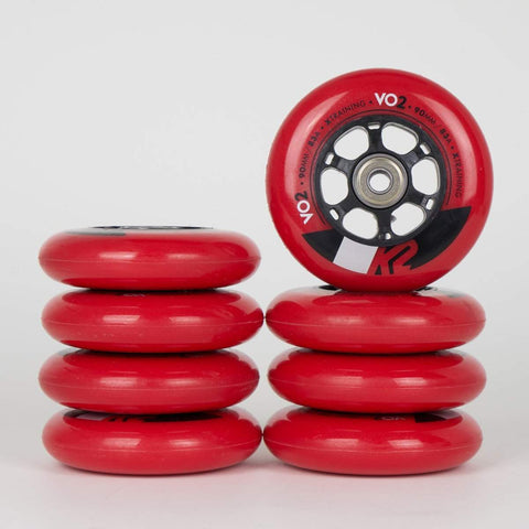 K2 X-Training Wheel 90mm Wheel & Bearing 8 Pack - Loco Skates