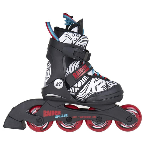 K2 Raider Splash 2020 Junior Boys Skates - Blue & Red