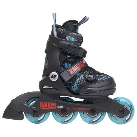 K2 Raider Boa 2020 Junior Boys Skates - Teal / Orange / Black