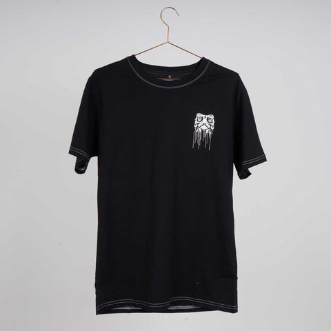 Kaltik Drip Face Black T-shirt