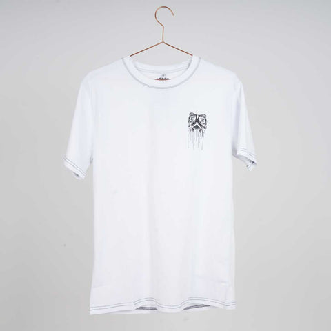 Kaltik Drip Face White T-shirt
