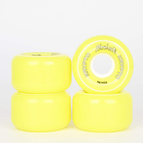 Kryptonics Paname 62mm 84a Roller Skate Wheels -  Yellow - Loco Skates