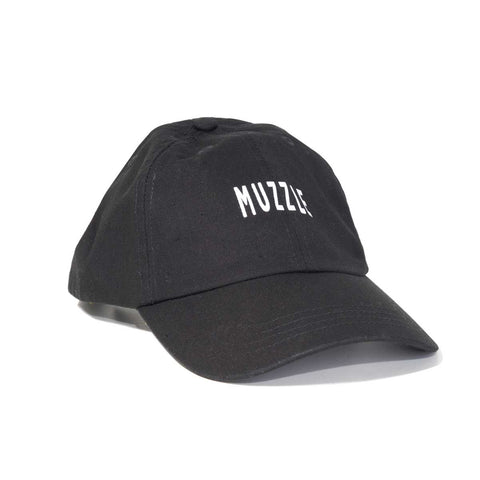 Muzzle Logo 6 Panel Hat - Black