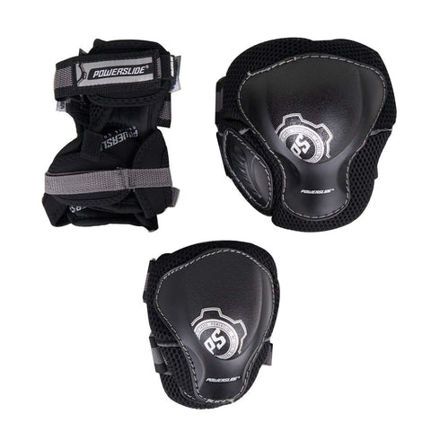 Powerslide Pro mens Tri pack Black Pad Set