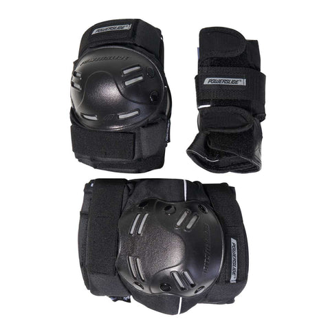 Powerslide Standard Series Mens Black Tri Pad Set