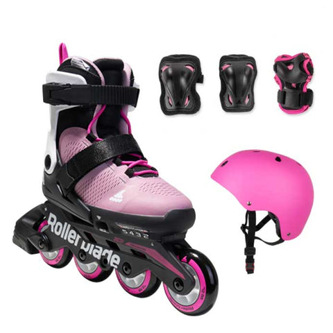 Rollerblade Micro Cube G Junior Skate Pack - Pink / White