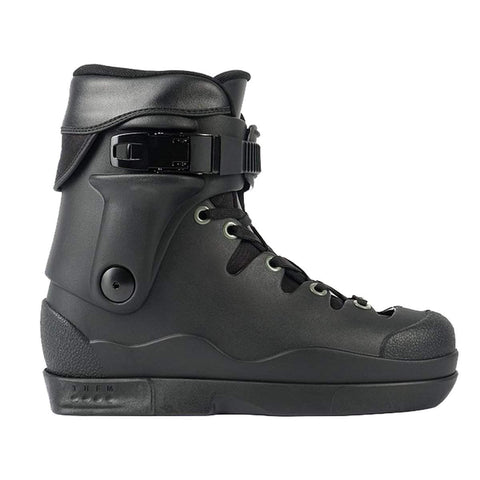Limited Edition Them Skates 908 - Black with Grey Eyelets V2 Liner- Boot Only - Loco Skates