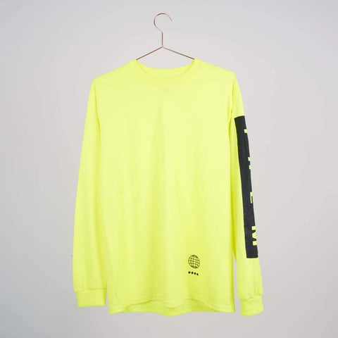 Them Goods Long sleeve Block T-Shirt Hivis