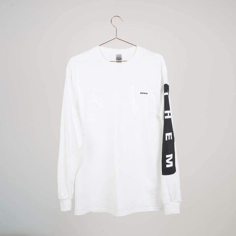 Them Goods Long sleeve Block T-Shirt White