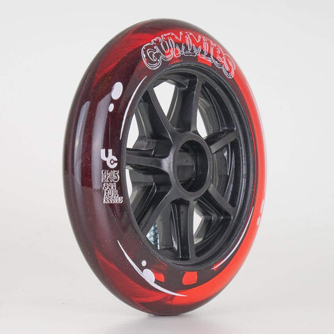 Undercover Gummies Wheels 125mm 84a - Red - Sold Individually