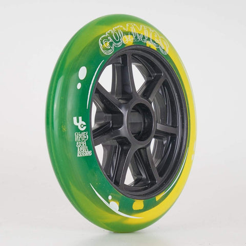 Undercover Gummies Wheels 125mm 84a - Yellow - Sold Individually