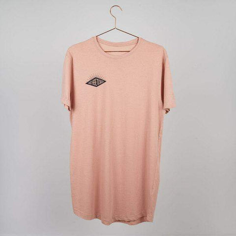 UKBC X LOCO - Just Here To Skate Longline T-shirt - Muted Pink