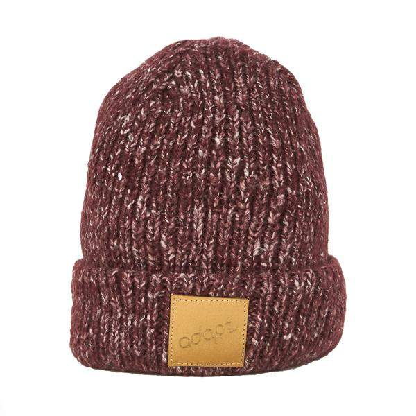 Adapt Knit Burgundy Heather Beanie