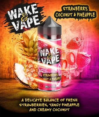 Wake & Vape 100ml - Strawberry Coconut & Pineapple