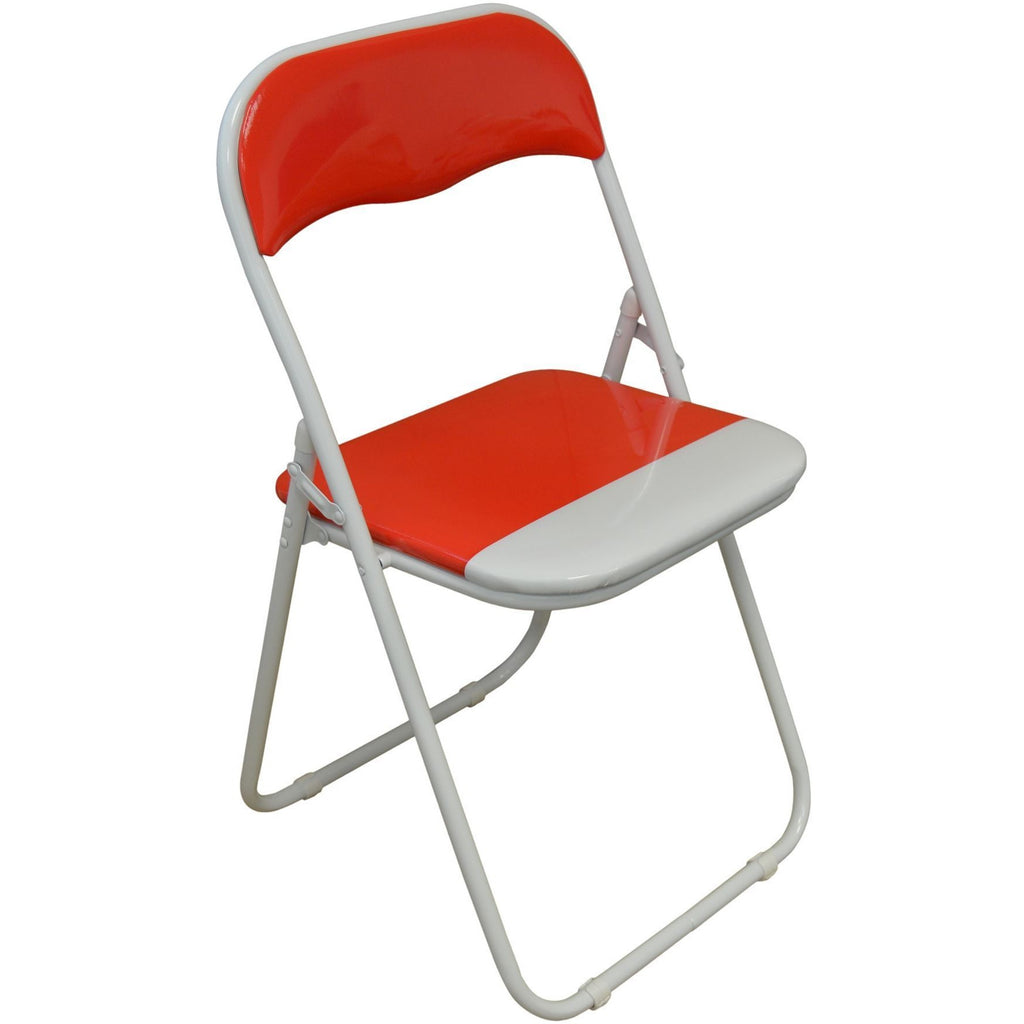 Harbour Housewares Red / White Padded, Folding, Desk Chair