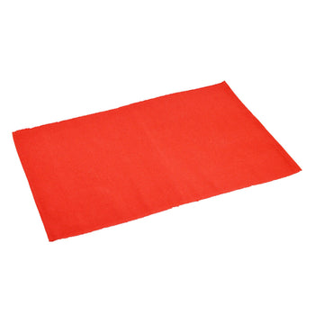 Nicola Spring Ribbed Cotton Dining Table Placemat - Red
