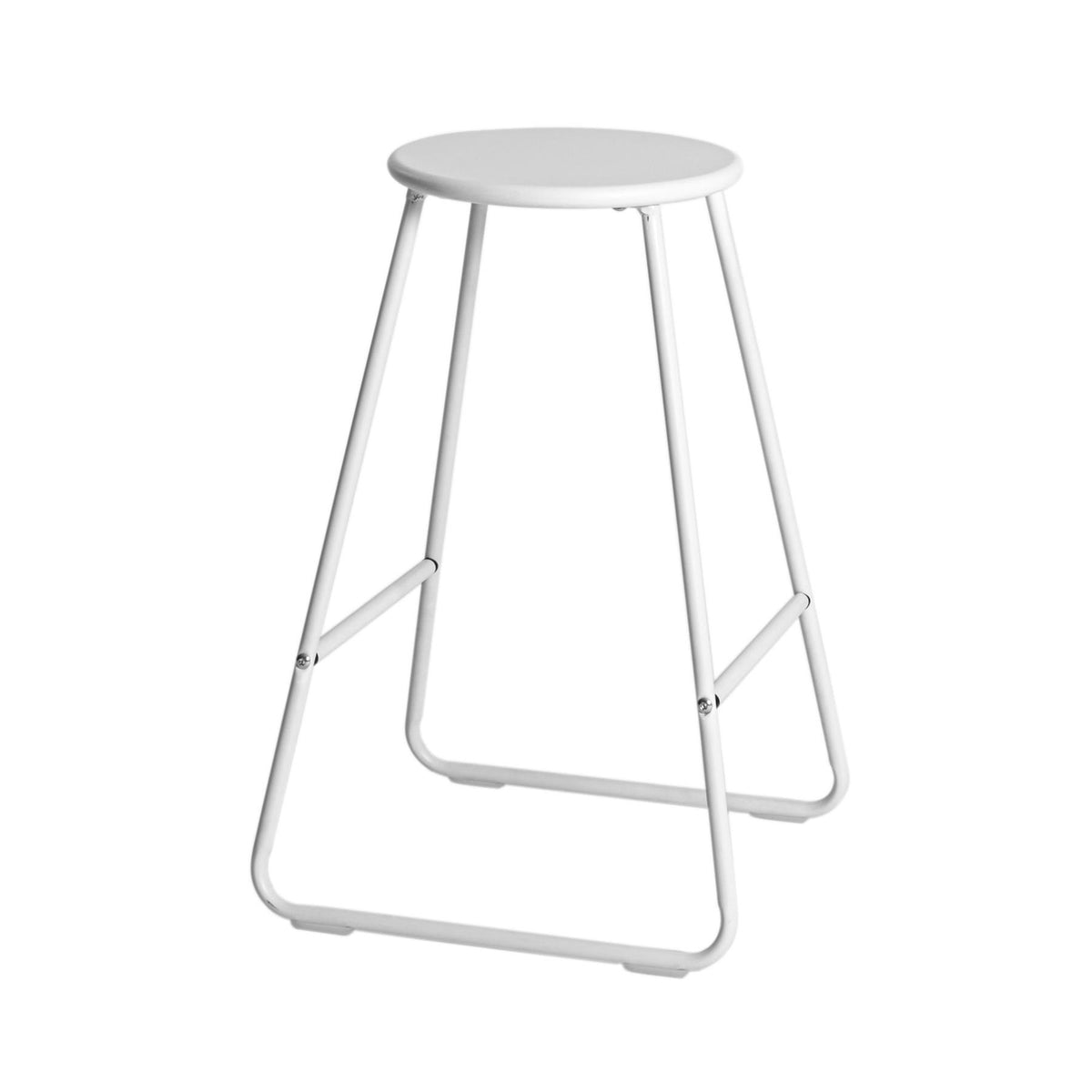 Harbour Housewares Wooden Bar Stool - White / White